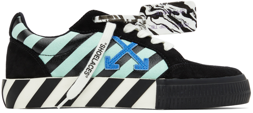 Off-White 黑色 Diagonal Print 硫化运动鞋