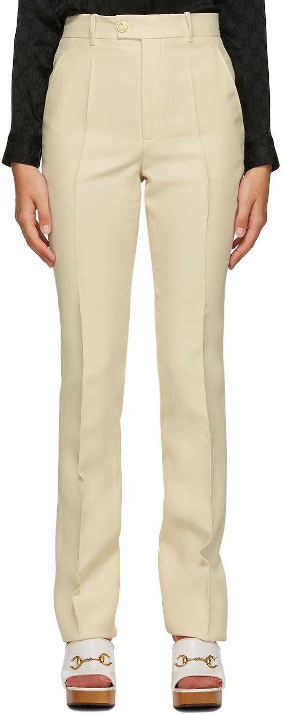 Gucci 驼色喇叭长裤