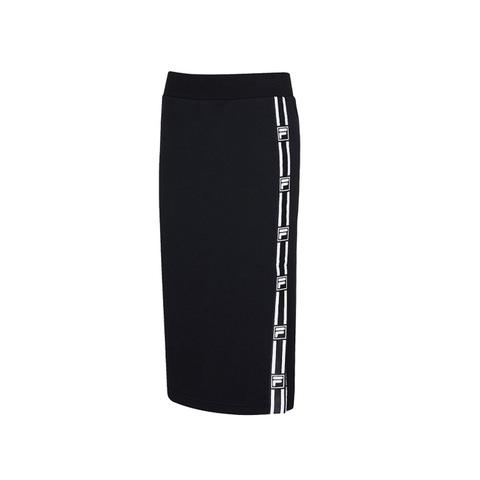 FILA #NEWTRO MANIA 針織長裙-黑色 5SKV-1438-BK