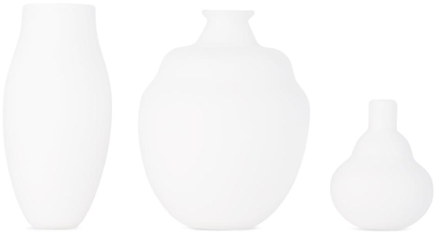Verre D'Onge SSENSE 独家发售白色小号 Sandblast 花瓶套装