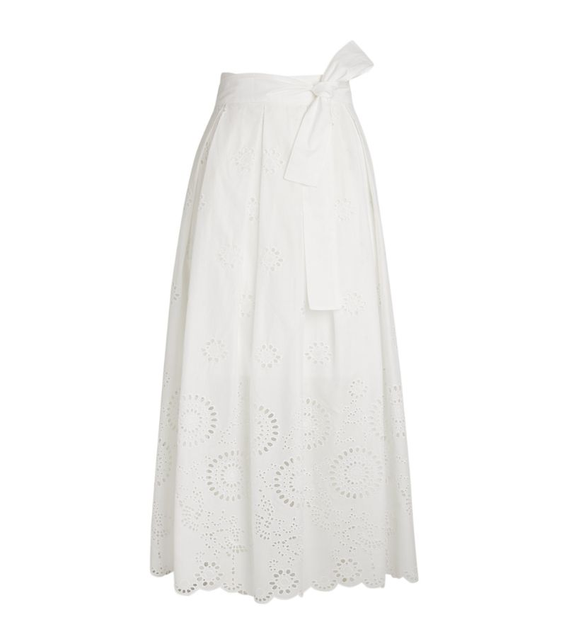 Max & Co St. Gallen Embroidered Maxi Skirt