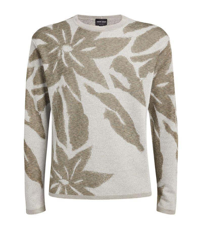 Giorgio Armani Cashmere-Blend Floral Sweater