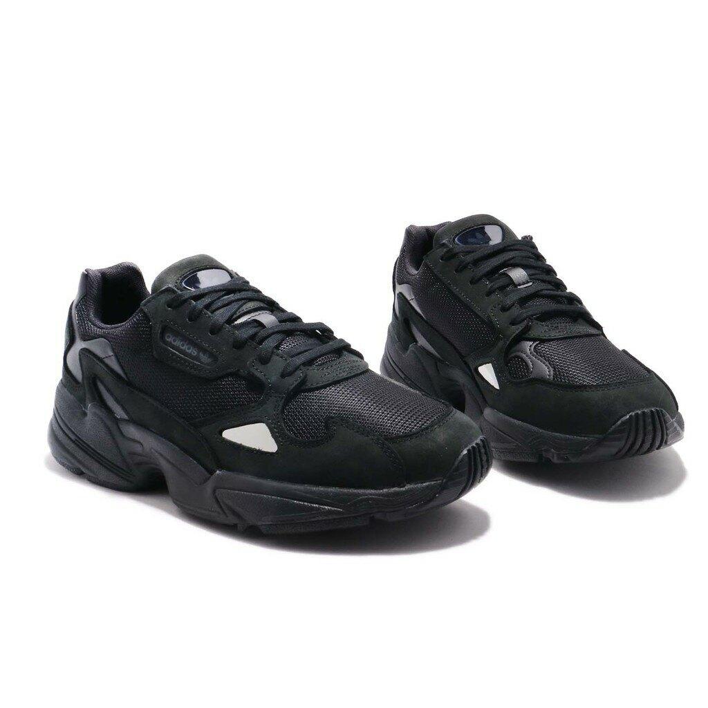 搶券滿千折100↘ | 帝安諾-實體店面 Adidas Originals Falcon 黑魂 全黑 增高 老爹鞋 G26880▶SUPER SALE 樂天購物節↘超取499免運