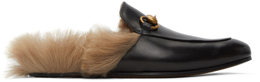 Gucci 黑色 Princetown 马衔扣乐福鞋