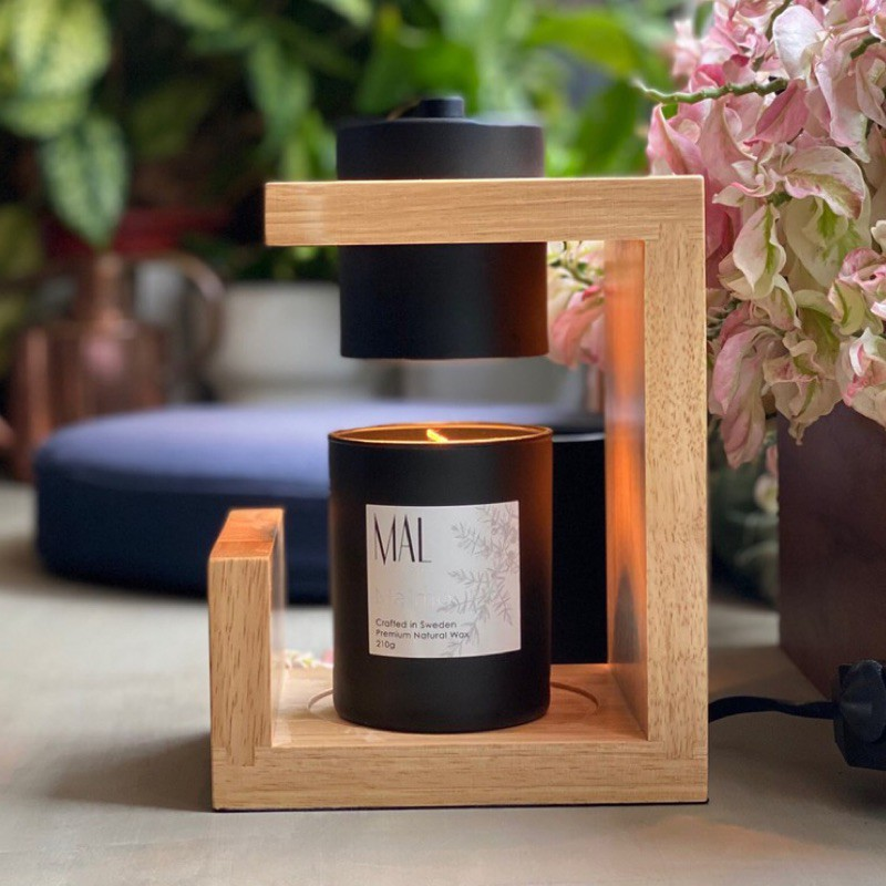 預購 Vana Candles 香氛蠟燭暖燈 原色摩登實木 送蠟燭