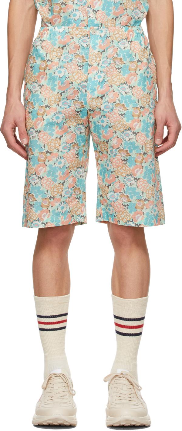 Gucci 多色 Liberty London 联名 Floral Print 短裤