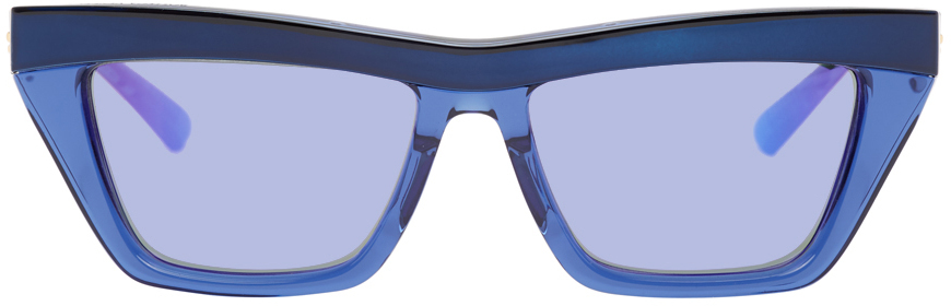 Bottega Veneta 蓝色方框太阳镜