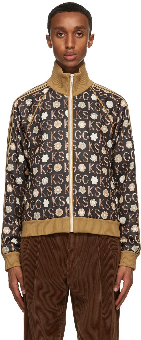 Gucci 黑色 Ken Scott 联名印花拉链运动夹克