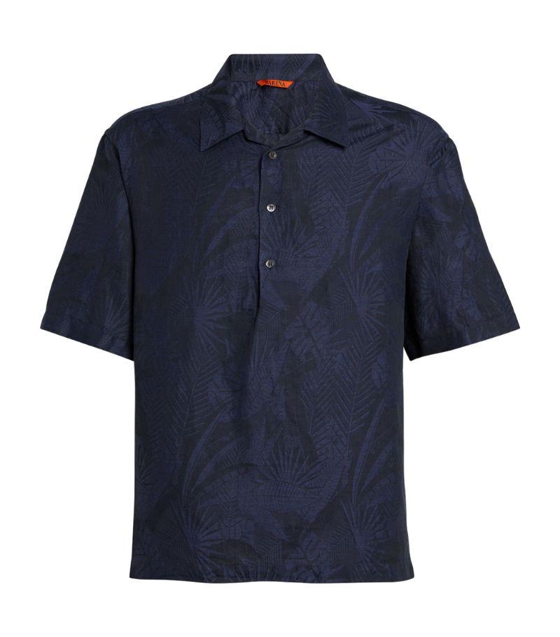Barena Leaf Print Polo Shirt