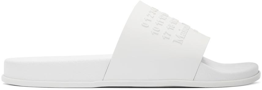 Maison Margiela 白色 Shower 拖鞋