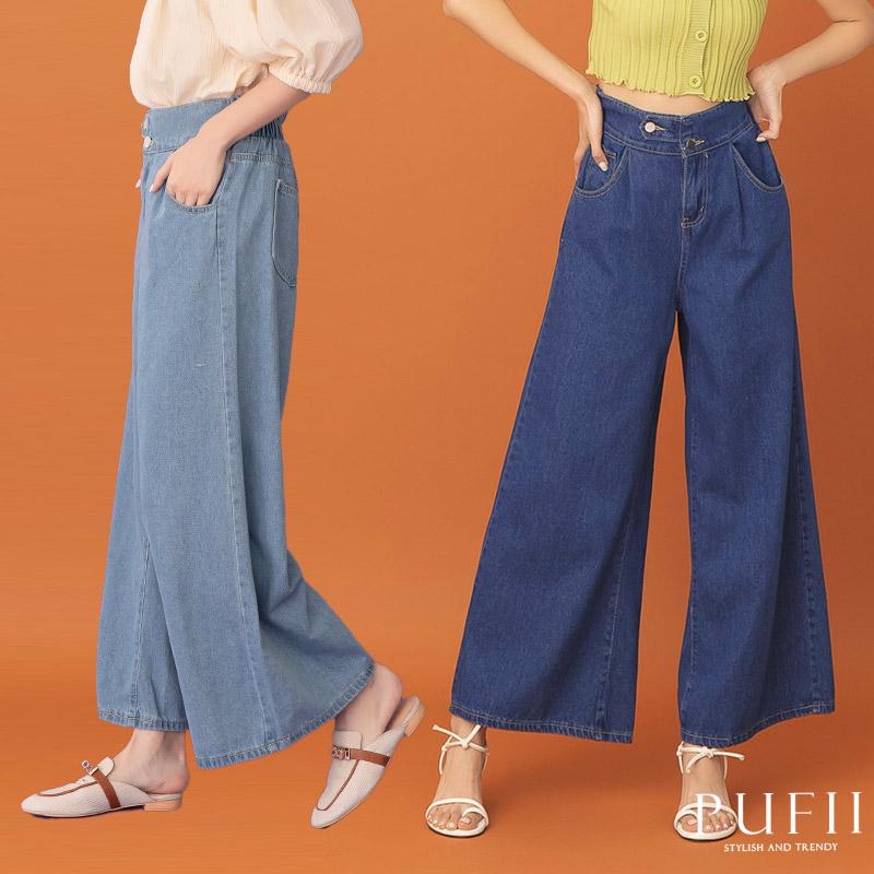 ◆限量現貨◆PUFII-牛仔褲 不對稱釦牛仔褲長寬褲- 0318 現+預 春【CP19988】