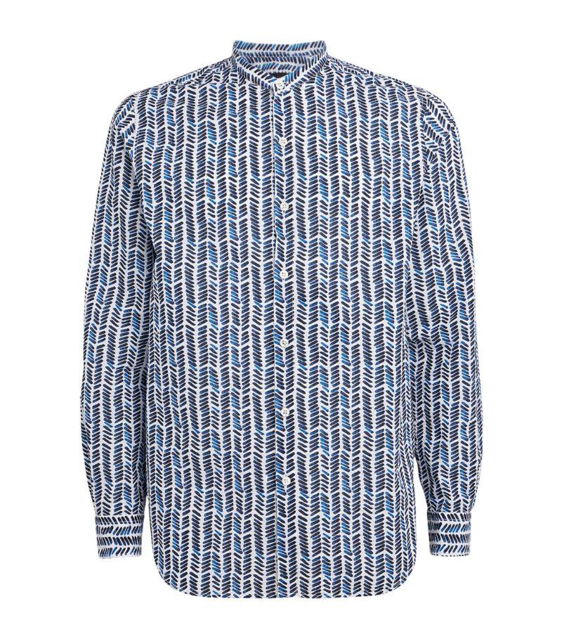 Giorgio Armani Mandarin-Collar Shirt