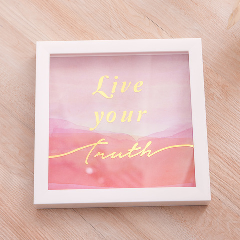 Live your truth掛畫