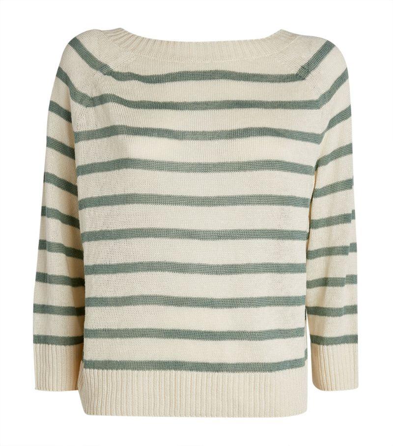 Weekend Max Mara Striped Linen Sweater