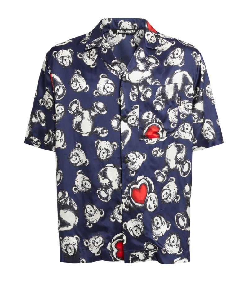 Palm Angels Bear In Love Bowling Shirt