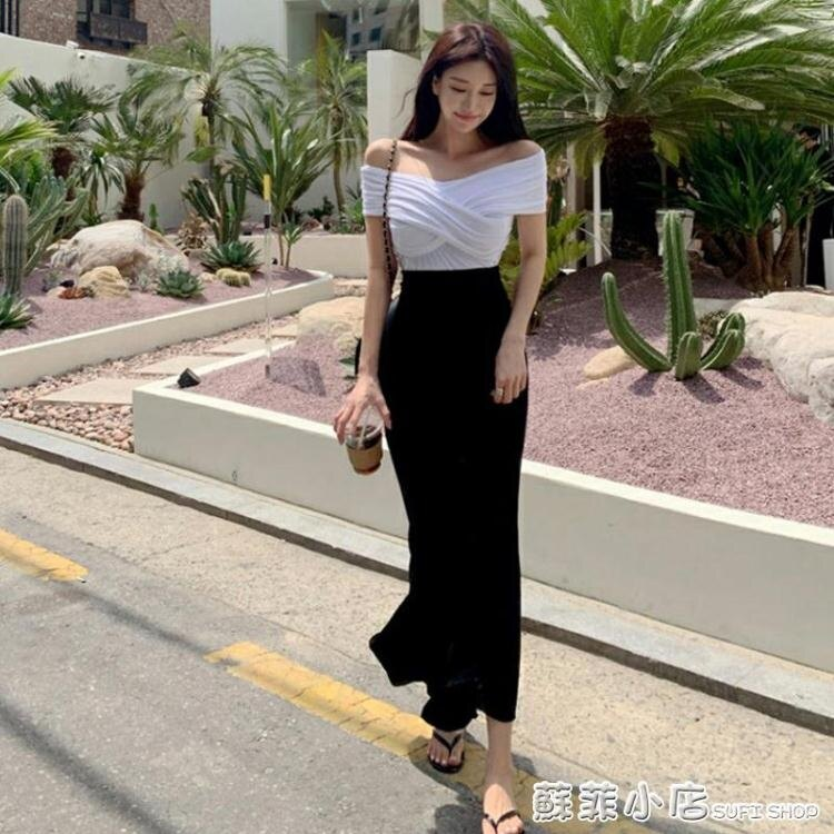 魚尾裙 黑色魚尾包臀裙一步半身裙中長款女氣質高腰顯瘦2020年春秋季新款