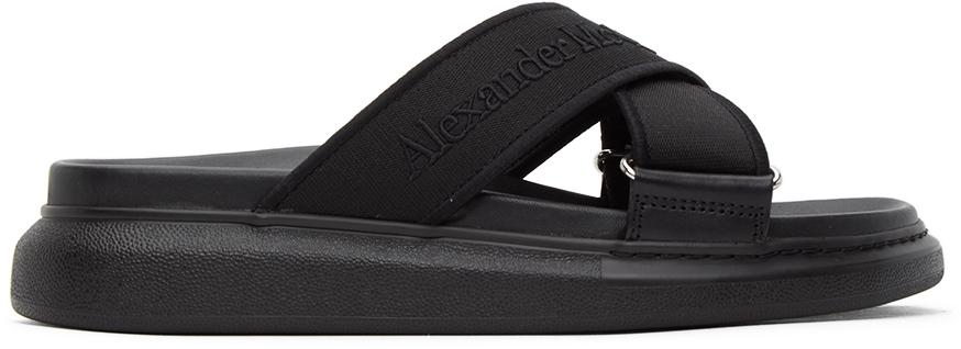 Alexander McQueen 黑色 Hybrid 拖鞋