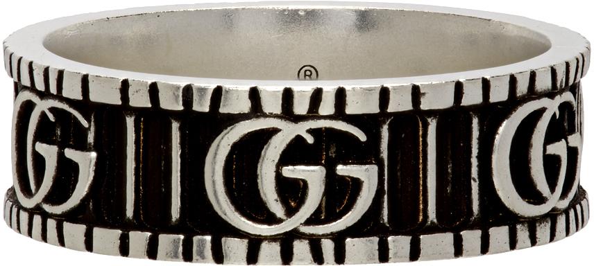 Gucci 银色 Double G 戒指