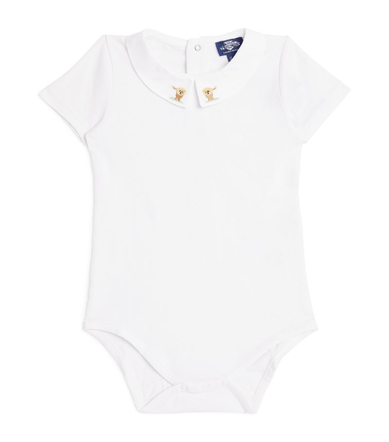 Trotters Embroidered Monty Augustus Bodysuit (3-24 Months)