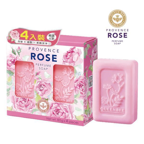 蜂王普羅旺斯玫瑰香氛皂80g×4入【康是美】