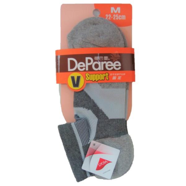 蒂巴蕾V足弓支撐運動船襪M-DP7915自然灰 【康是美】