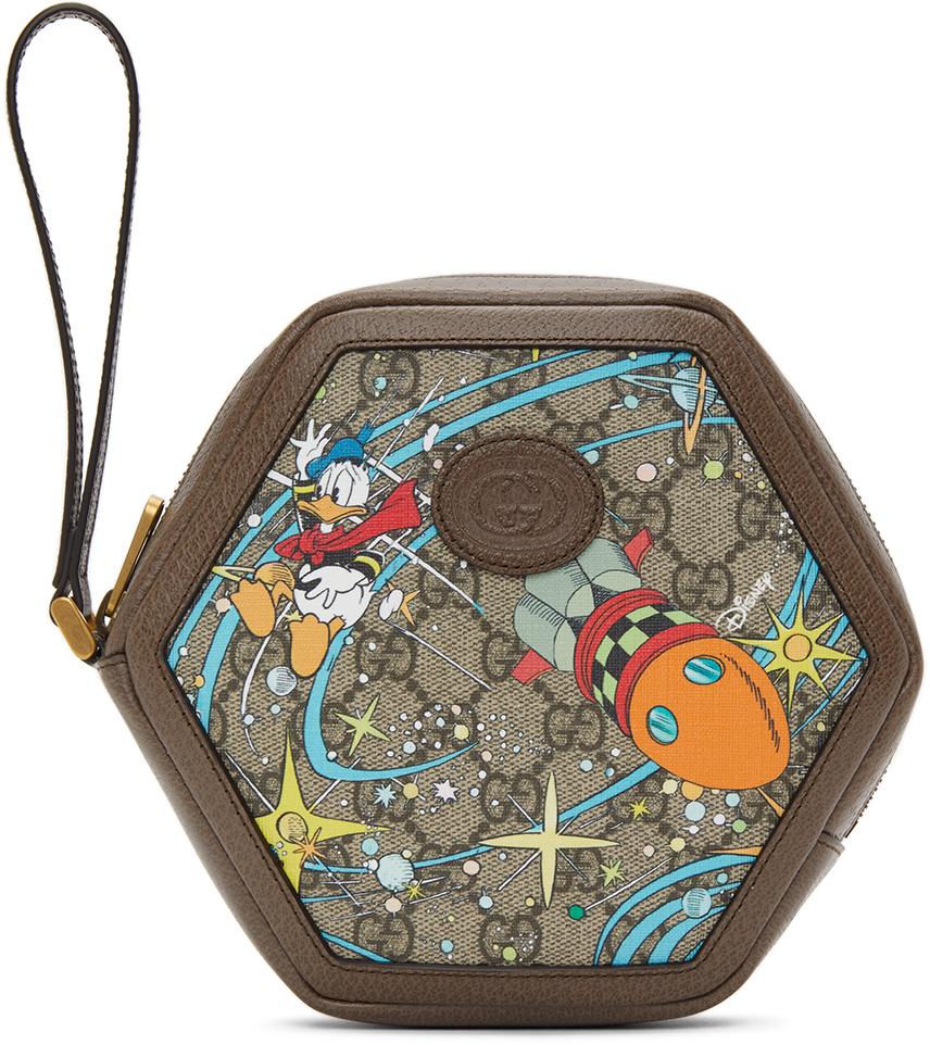 Gucci 多色 Disney 联名 GG Donald Duck Rocket 零钱包