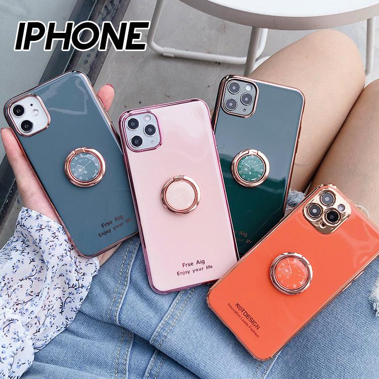 iPhone 12/12 Pro/12 Mini/12 Pro/12 Pro Max/11/11 Pro/11 Pro Max/SE/X/XS/XS Max/XR/8/7系列 時尚電鍍時鐘支架鏡頭全包