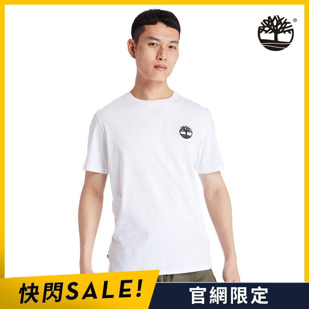 Timberland 男款白色樹型LOGO短袖圓領T恤 A29RX100