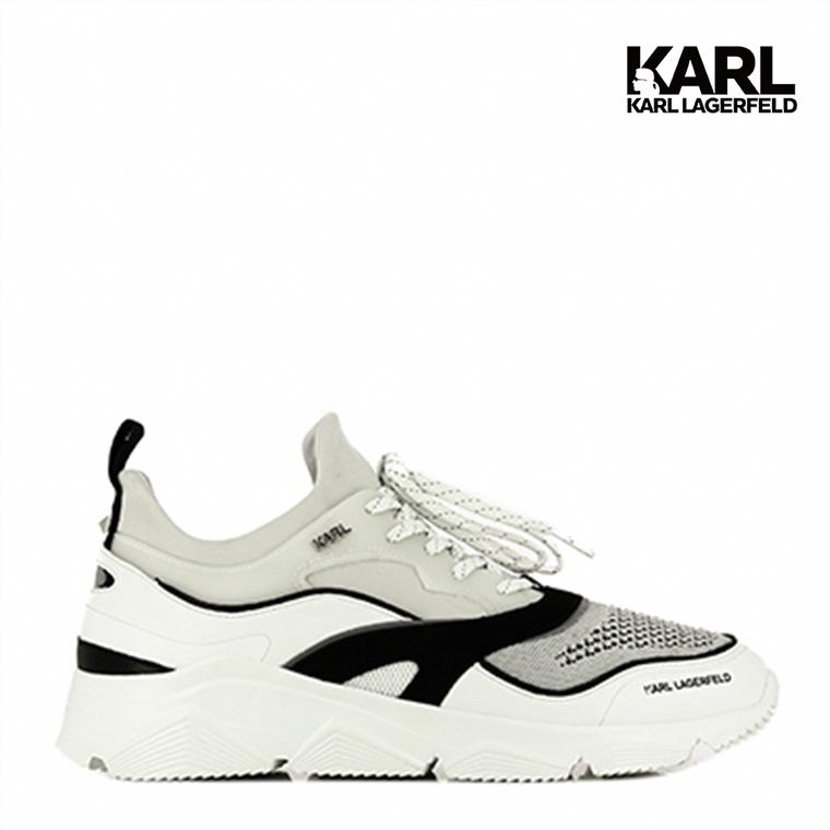【KARL LAGERFELD】VERGE撞色運動男鞋-白  (原廠公司貨)