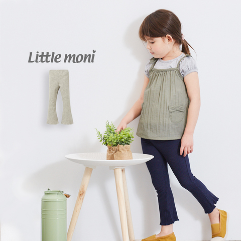 Little moni 針織喇叭褲(麻花灰)