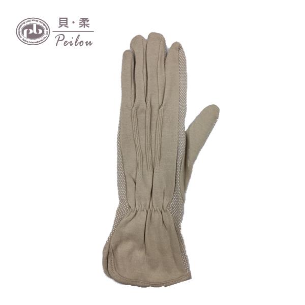 貝柔素面純棉止滑手套-膚色加長款【康是美】