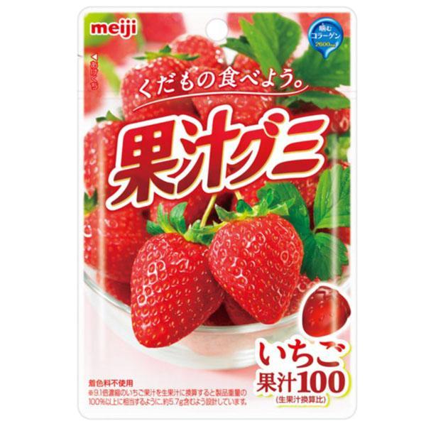 點數15%★食品飲料滿千–meiji明治果汁QQ軟糖-草莓 【康是美】