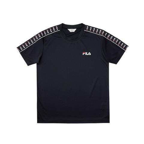 FILA 吸濕排汗短袖圓領T恤-黑色 1TEV-1471-BK