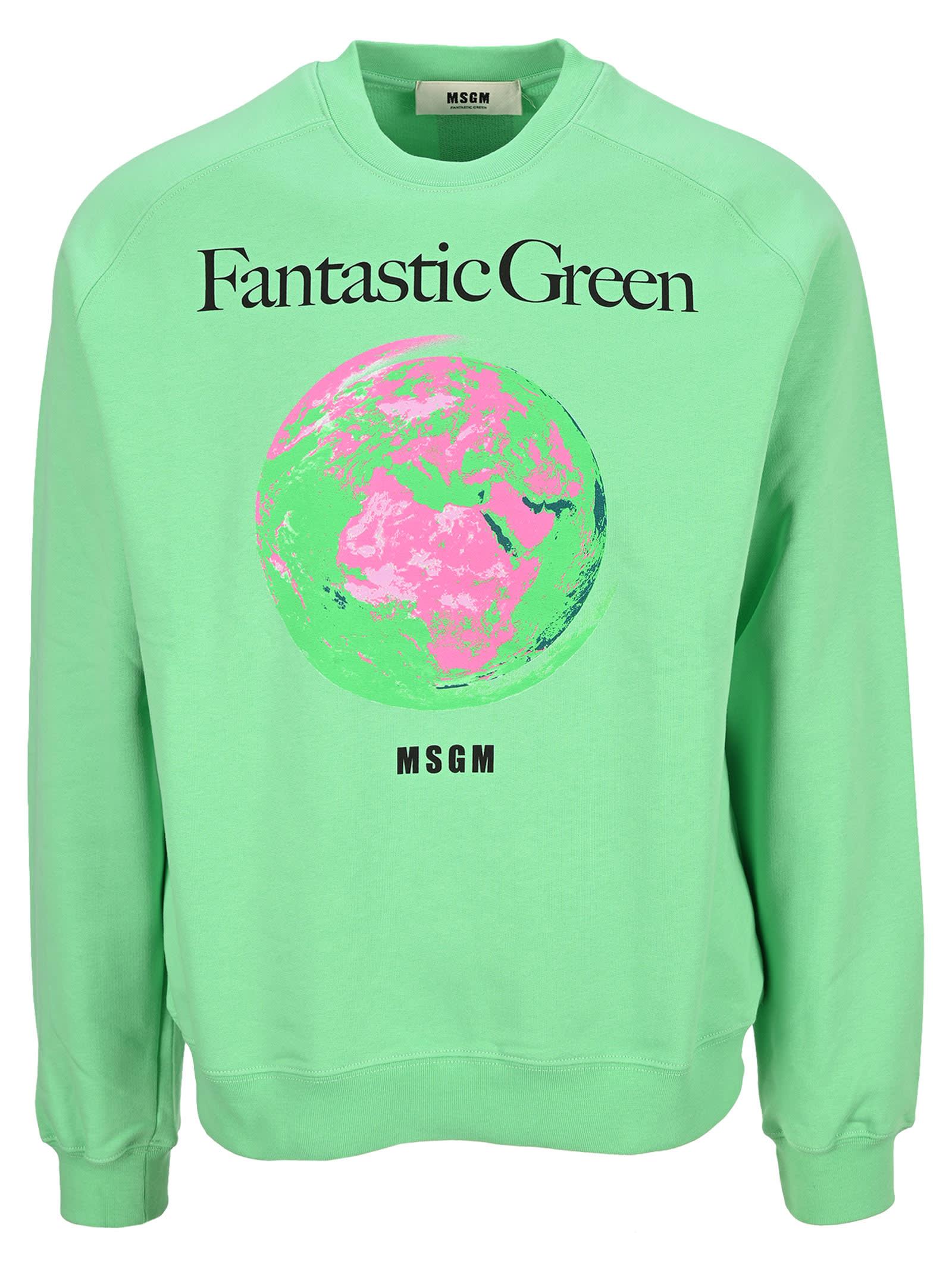 Msgm Fantastic Green Sweatshirt