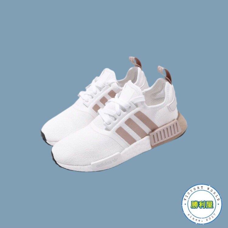 【滿2000現折200↘最高折$450】【ADIDAS】NMD R1 W 女鞋 休閒鞋 全白 奶茶色 BOOST 熱門款 FV2475【勝利屋】