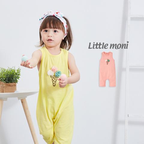 Little moni 立體冰淇淋連身褲(粉紅)