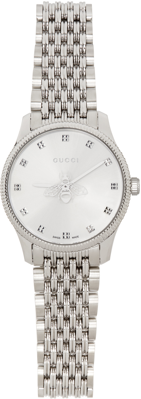 Gucci 银色 G-Timeless Bee 手表