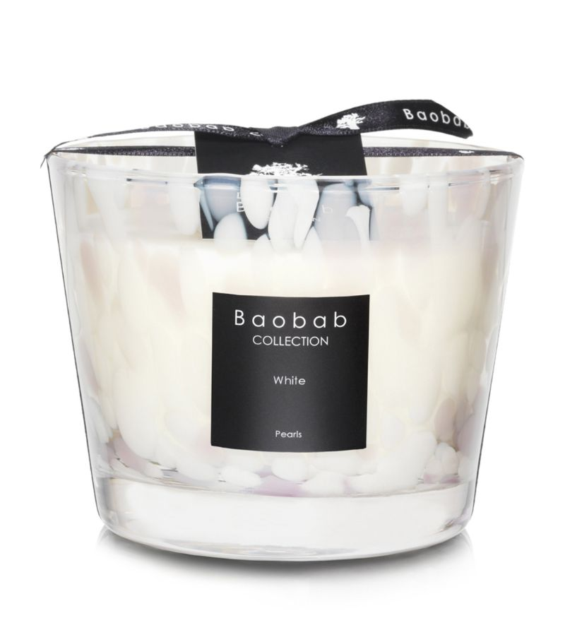 Baobab Collection White Pearls Candle (10Cm)