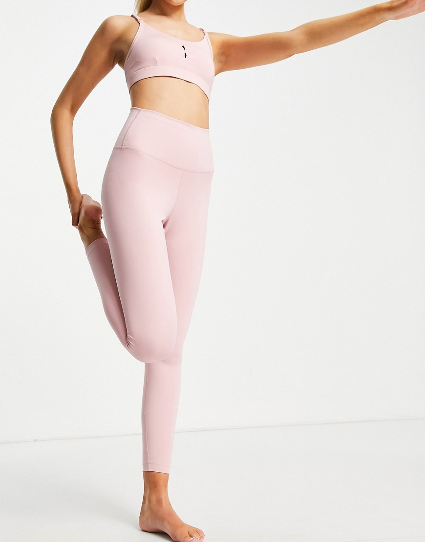 Nike Yoga Power Classic joggers in off black-Pink