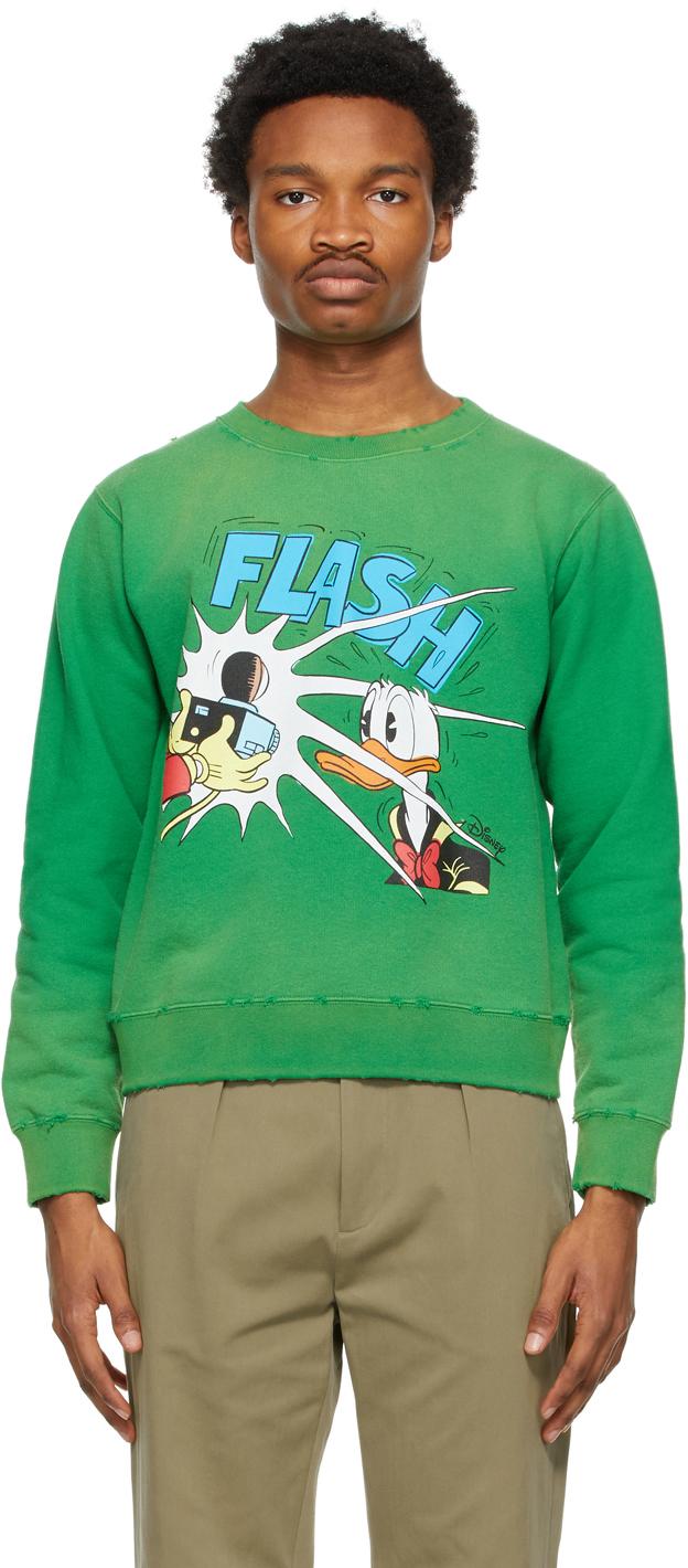 "Gucci 绿色 Disney 联名 Donald Duck ""Flash""套头衫"