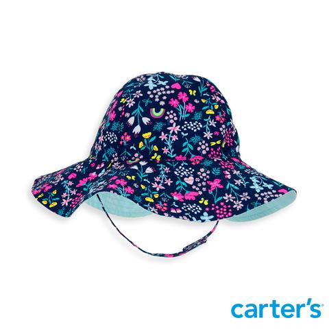 Carter's 台灣總代理 黑底小碎花帽
