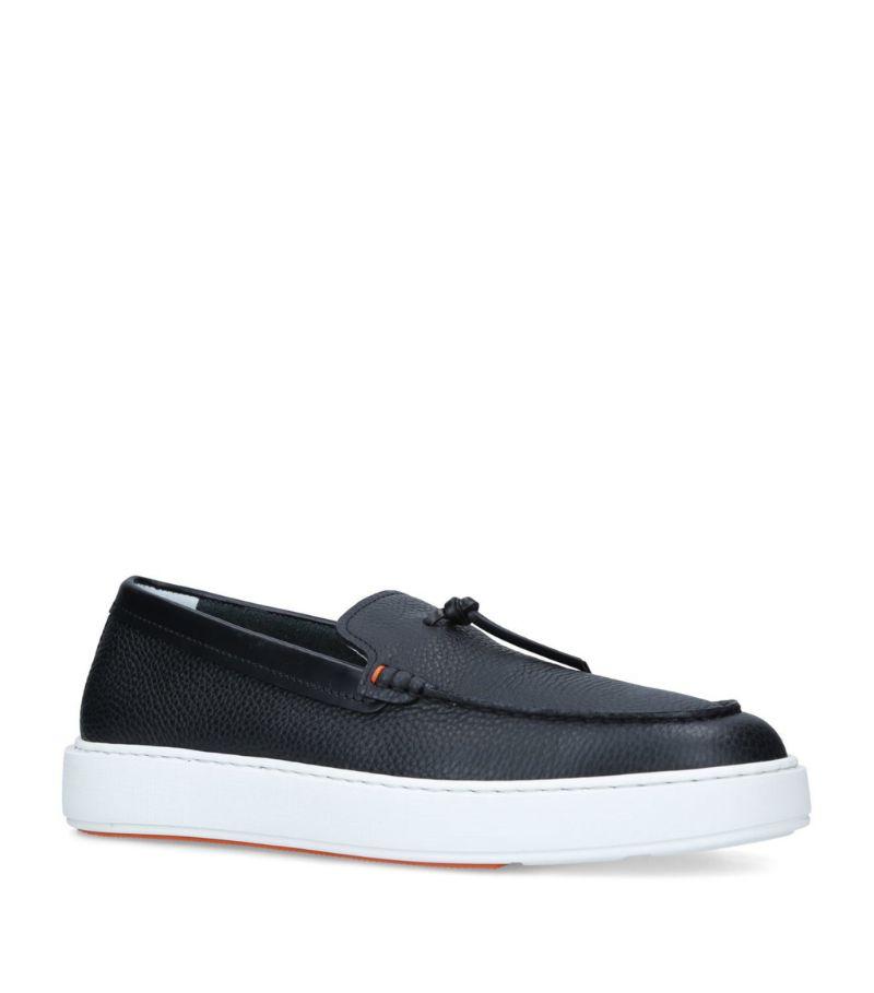 Santoni Leather Tassel Loafers