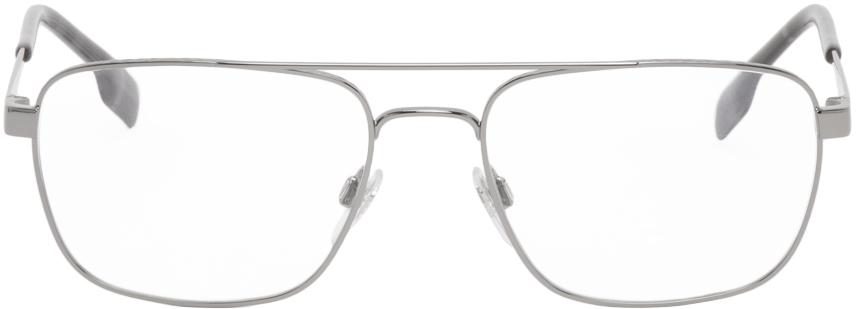 Burberry 银色金属眼镜