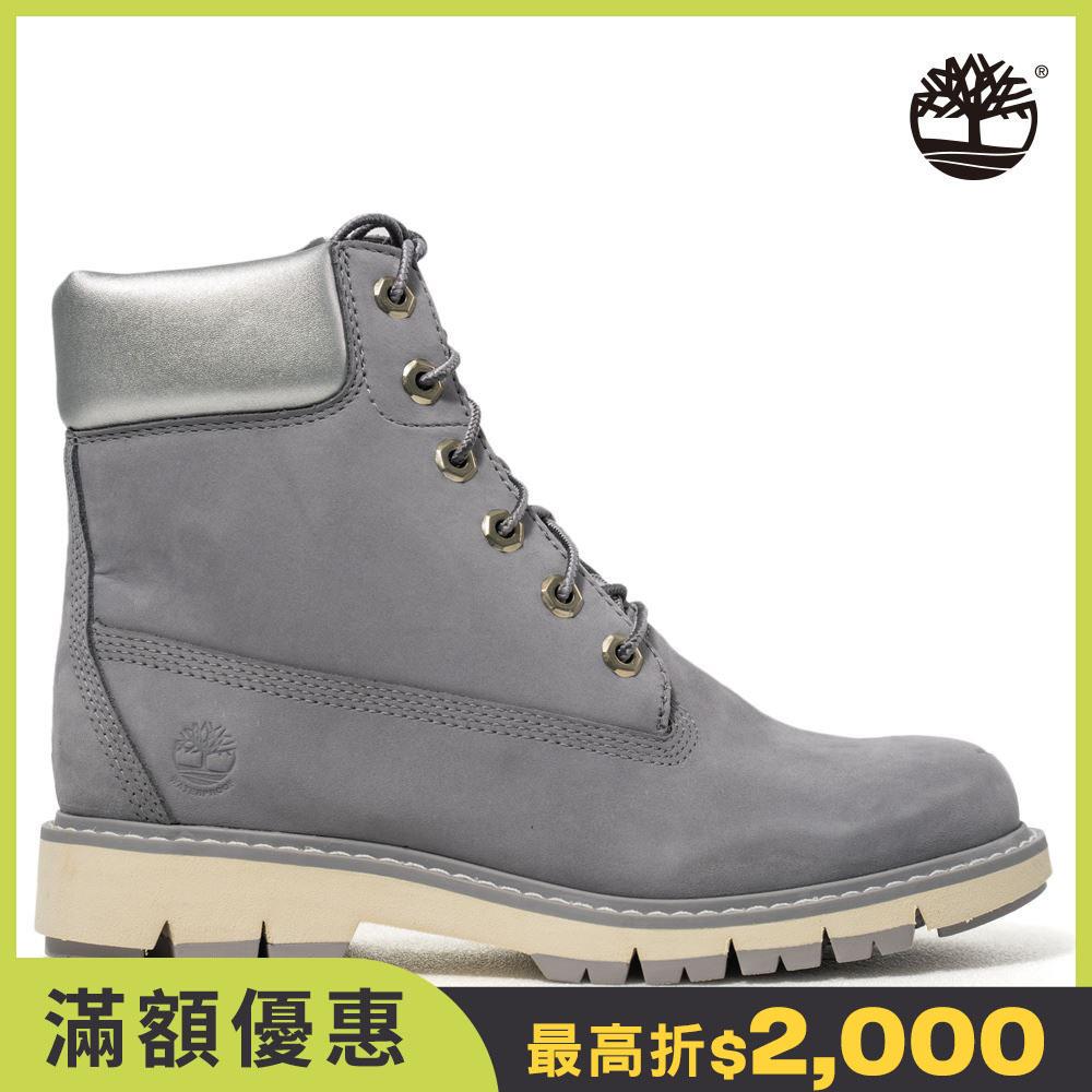 Timberland 女款中灰色磨砂革中筒靴|A2B3D050