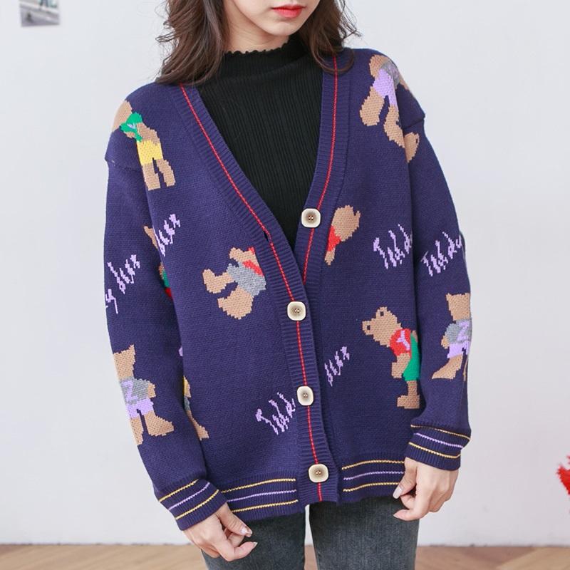 ★秋冬現貨★小熊厚磅包芯紗針織外套-eFashion【N15760700】