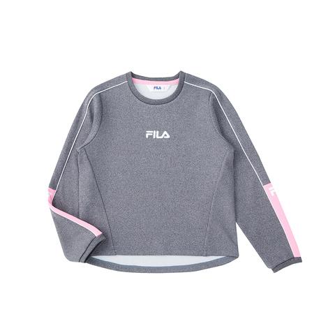 FILA KIDS 長袖上衣-麻灰 5TEU-8312-MY