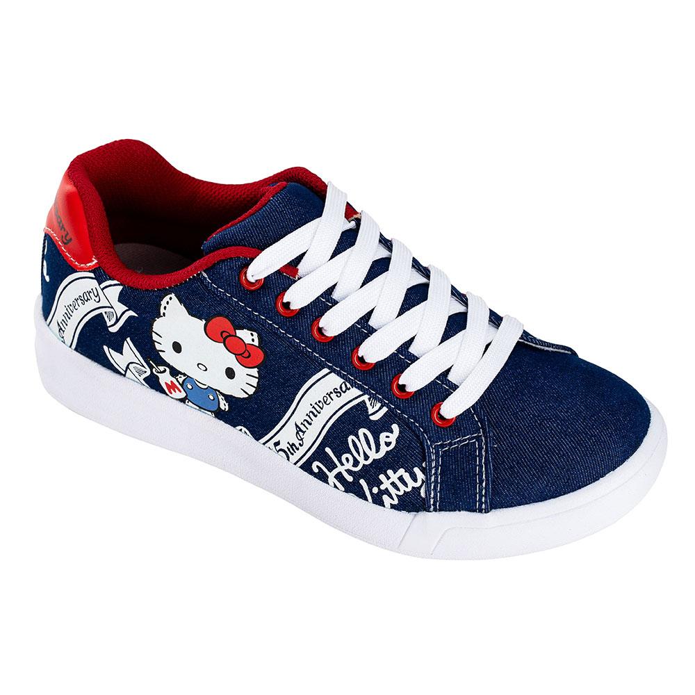 HELLO KITTY艾樂跑女鞋-日本限定45周年主題休閒鞋-藍(919119 )