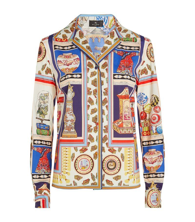 Etro Cotton-Blend Printed Shirt
