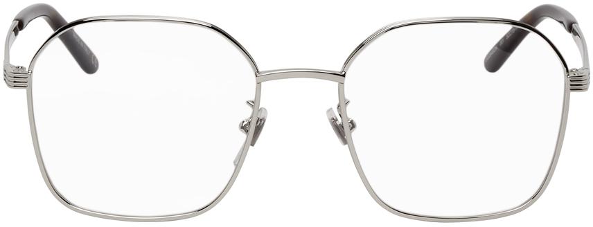 Gucci 银色方框眼镜