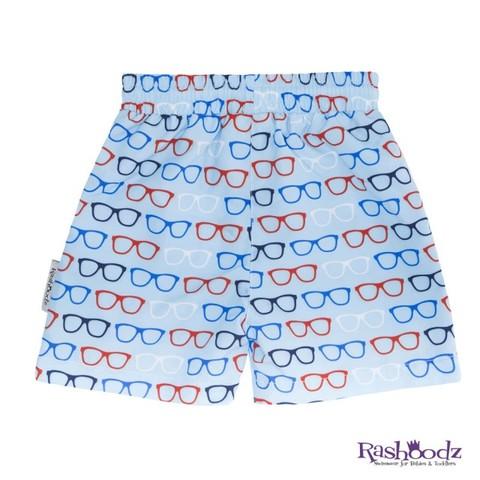 澳洲 RASHOODZ 兒童抗UV防曬泳褲-戴眼鏡的紳士